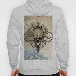Amazing skull with wings and grunge Hoody