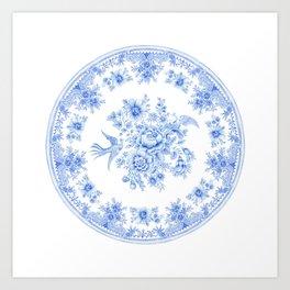 Blue asiatic pheasant Art Print