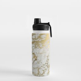Gold marble Water Bottle