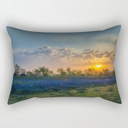 Daybreak In The Land Of Bluebonnets Rectangular Pillow