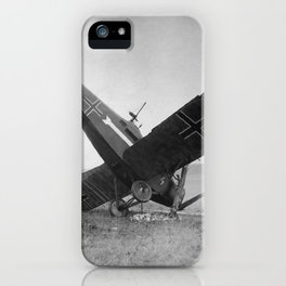 Downed German Fighter Plane - World War One - 1918 iPhone Case