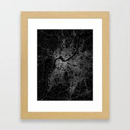 Louisville map Framed Art Print