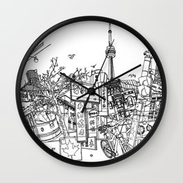 Toronto! (Dark T-shirt Version) Wall Clock