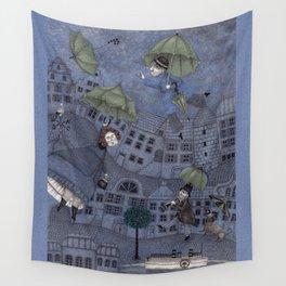 Monsieur Millet's Umbrellas Wall Tapestry