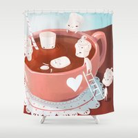 drink Shower Curtains featuring Drink by Joelle Murray