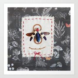 vintage jewel beetle Art Print