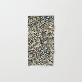 Blue Vintage Floral Pattern Hand & Bath Towel