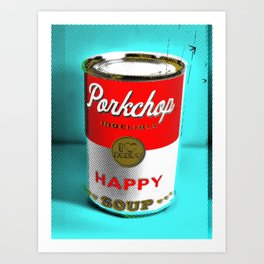 CONDENSED HAPPY Art Print