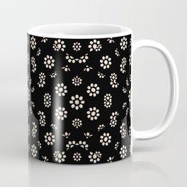 Dark Ditsy Floral Pattern Coffee Mug