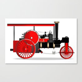 Vintage Steam Roller Canvas Print