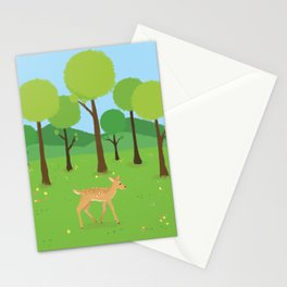 Fawn in Spring Stationery Cards