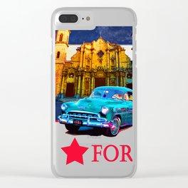 Cuba forever II Clear iPhone Case