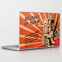 propaganda Laptop & iPad Skins featuring Propaganda Series by Alex.Raveland...robot.design.digital.art