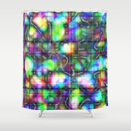 Abstract Mother of Pearl Shower Curtain