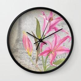 Macro Flower #6 Wall Clock