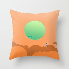 To The Moon II Throw Pillow