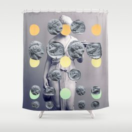 Statue With A Dot Gradient 1 Shower Curtain