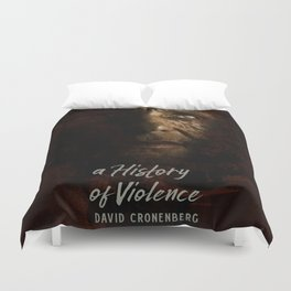 A History of Violence, David Cronenberg movie poster, Viggo Mortensen, Ed Harris Duvet Cover