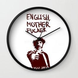 Pulp Fiction Samuel L Jackson English Motherfucker Do You Speak It? Wall Clock