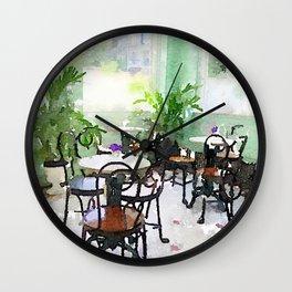 Watercolor Cafe Wall Clock