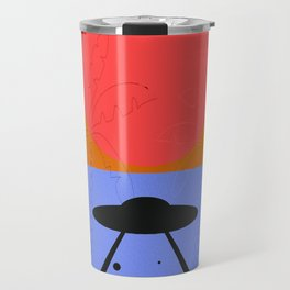 Minimal Sunset Alien Travel Mug