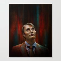 hannibal Canvas Prints featuring Hannibal by charlotvanh