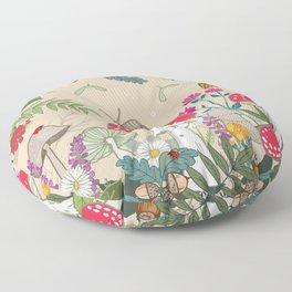Toadstools in the Woods Floor Pillow
