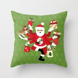 Dancing Shiva Claus - Funny Holidays Throw Pillow
