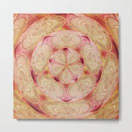 Pink Flowerball Metal Print
