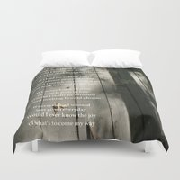 poetry Duvet Covers featuring Poetry Photo by Wired Circuit