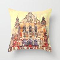 takmaj Throw Pillows featuring Poznań by takmaj