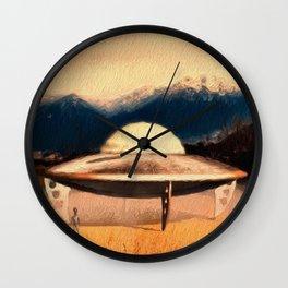 UFO Landing Wall Clock
