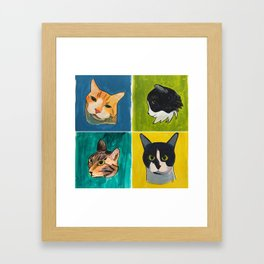 4 Cool Cats Framed Art Print