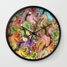 Squirrels Parade Wall Clock