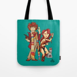 The Doctor, The Warrior, and K-9 Tote Bag