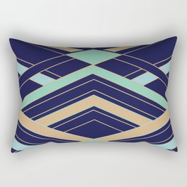 Art Deco Fast Rectangular Pillow