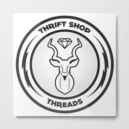 Thrift Shop Threads Button_Kudu Metal Print