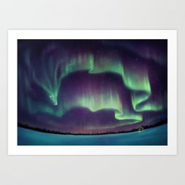 Northern Lights Dragon Art Print