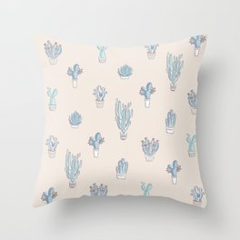 Succulent Pattern Desert Collection - #decor #buyart Throw Pillow