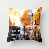 ghost world Throw Pillows featuring Dead girls : Ghost World by j.levent