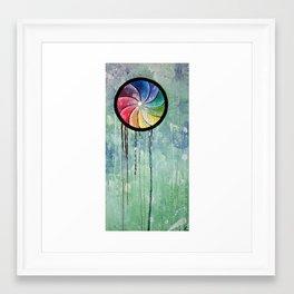 the waiting jellyfish [revamp] Framed Art Print