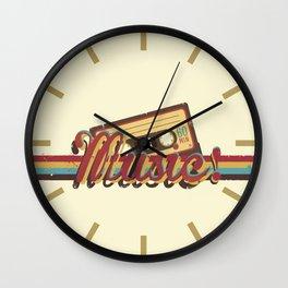 Music! (Retro Style) Wall Clock