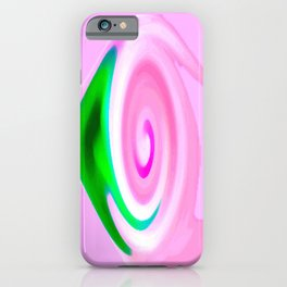 Pink Green Abstract iPhone Case