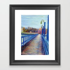 Water Over The Bridge - Colored Pencil Drawing Framed Art Print