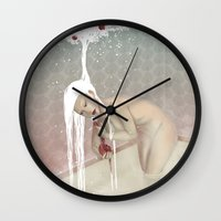 bath Wall Clocks featuring Bath by Natalie Lucht