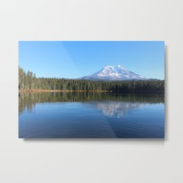 Mt Adams Reflection Metal Print