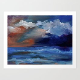 Red sky at morning, sailor's take warning. Art Print