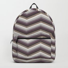 Geometrical ivory gray purple modern chevron Backpack