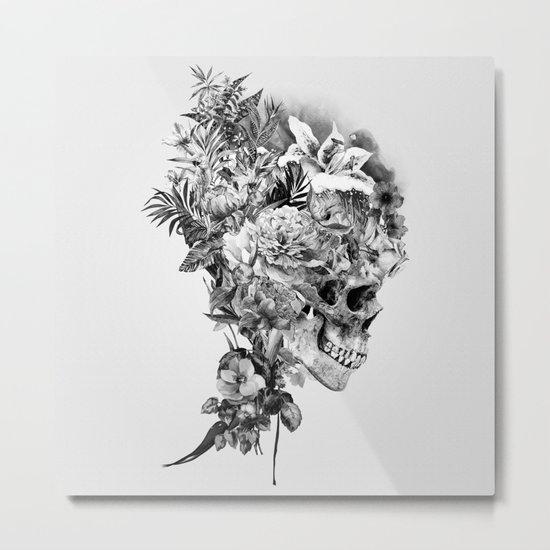 Skull VI BW Metal Print