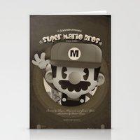 mario bros Stationery Cards featuring Mario Bros Fan Art by danvinci